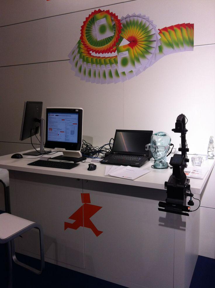 So sieht ein Eye-Tracking Labor aus - hier bei @Jobware auf der Zukunft Personal #ZP14 in Köln im Oktober 2014.