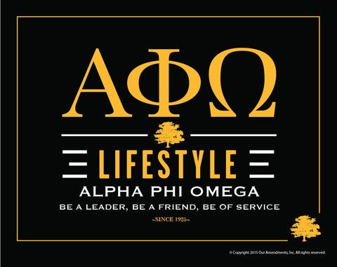 Alpha Phi Omega Lifestyle Poster
