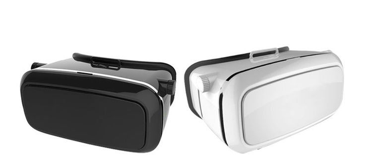 HYIYH VR Goggles come in White or Black. Turn your iPhone or Android device into a Virtual Reality experience.