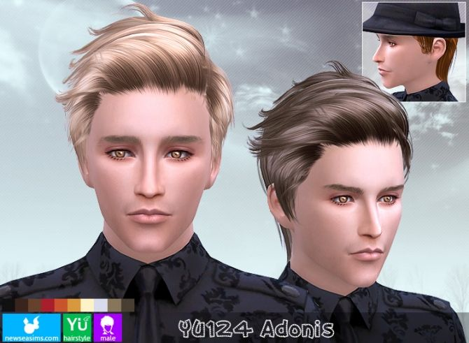 YU124 Adonis hair (Pay) at Newsea Sims 4 via Sims 4 Updates