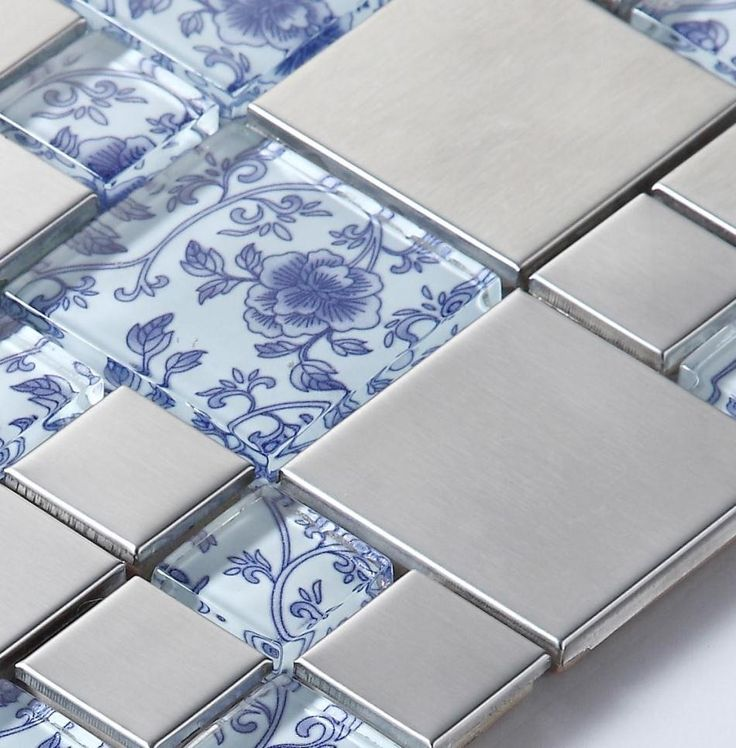 ==> [Free Shipping] Buy Best drawing art blue glass mosaic mixed metal mosaic tiles for kitchen backsplash bathroom shower tile dining room wall mosaic Online with LOWEST Price | 32261536824