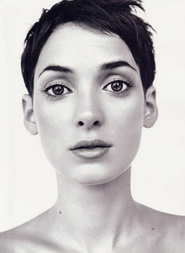 winona. She's a celeb, yes, and belongs on my Celebs board, sure, but wow, is she ever striking.