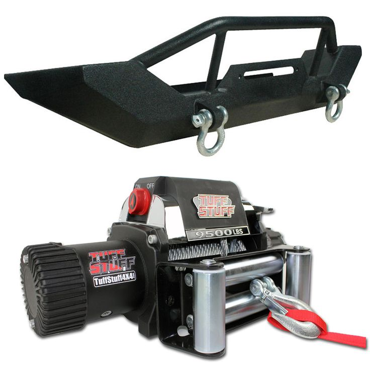 Get the perfect off road combo for your 1987-2006 Jeep Wrangler TJ or YJ, including a new Tuff Stuff front bumper with D rings & a Tuff Stuff 9,500lb Wireless Winch. The most powerful bumper and winch combo available at an affordable price!