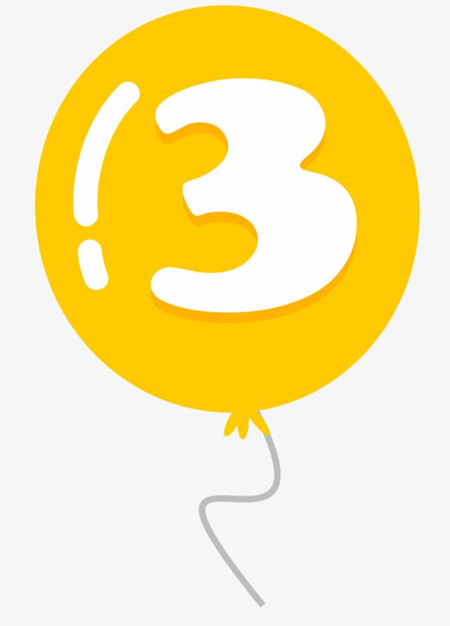 Balloon Number 3 Balloon Vector Digital Balloon Cartoon Balloon Png Transparent Clipart Image And Psd File For Free Download Number Balloons Balloons Clip Art
