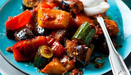 Moroccan-style roasted vegetable tumble