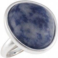 Bague pierre bleue