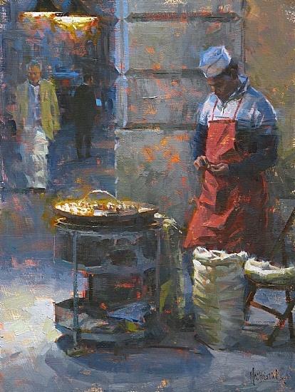 The Chestnut Peddler by Jennifer McChristian Oil ~ 16 x 12