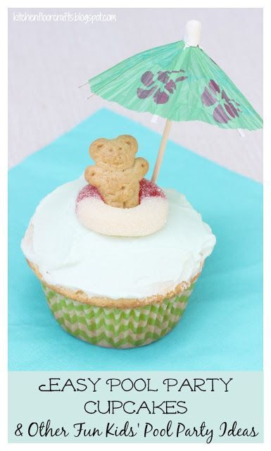 Kitchen Floor Crafts: Easy Pool Party Cupcakes & Pool Party Ideas