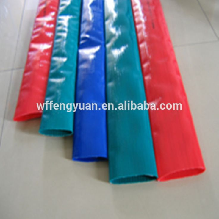 flexible feature and pvc material lay flat hose