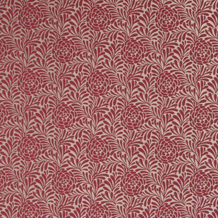 Warwick Fabrics : HYDRANGEA Lantern  - Pantone Color of the Year, Marsala reference #marsala