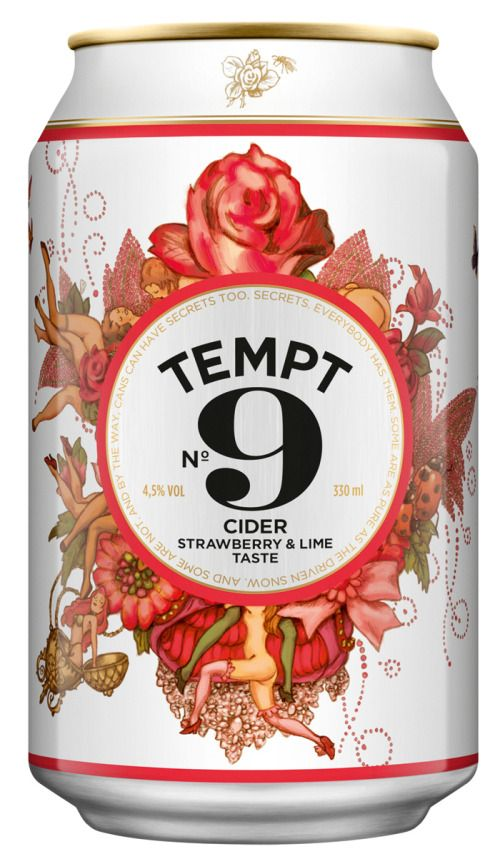 Tempt Cider packaging