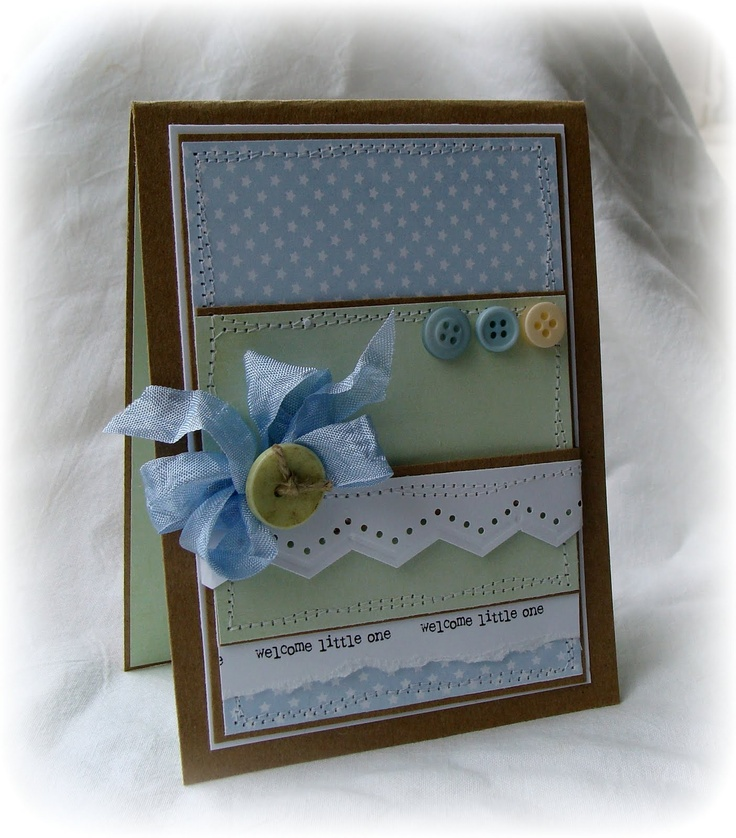 'Welcome Little One' Sentiment Ribbon. By Leann New