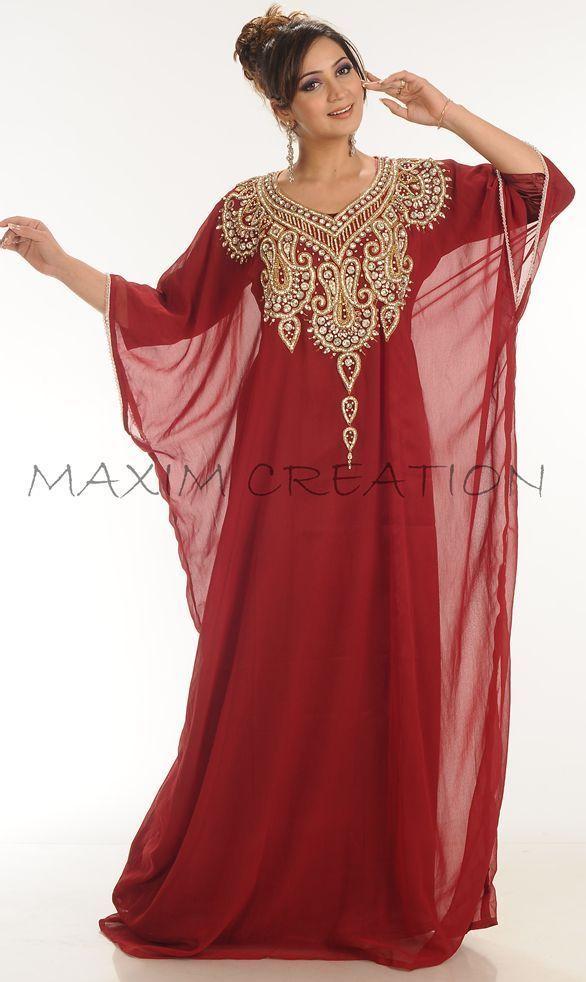 Dubai Farasha Moroccan Kaftan Dress Abaya Jilbab Islamic Arabian clothing 3800 #MaximCreation #Kaftan #Formal
