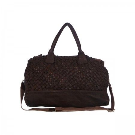 Travel bag Handmade woven with gold effects.