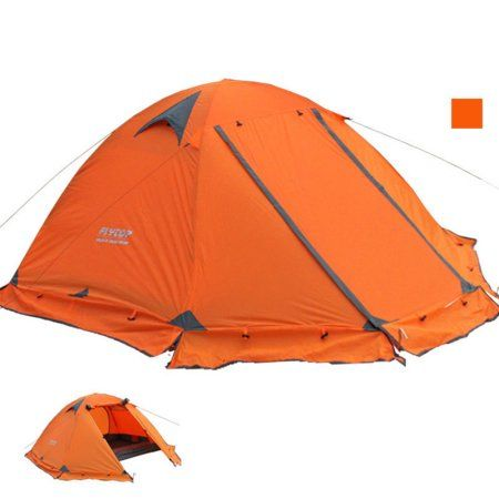 2 Person Portable Folding Waterproof Tent Easy Setup Lightweight 4 Seasons Tent for Outdoor Camping Hiking Backpacking Climbing, Travel with a Living Room