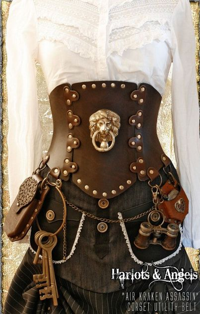 I love belts & corsets that have lots of gadgets & useful tools attached