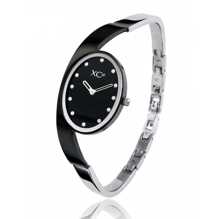 Ladies stainless steel EQUILIBRE black watches - Xc38