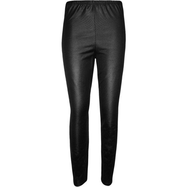 Layla Wet Look Leggings ($16) ❤ liked on Polyvore featuring pants, leggings, black, shiny pants, liquid leggings, stretch waist pants, wetlook leggings and wet look leggings