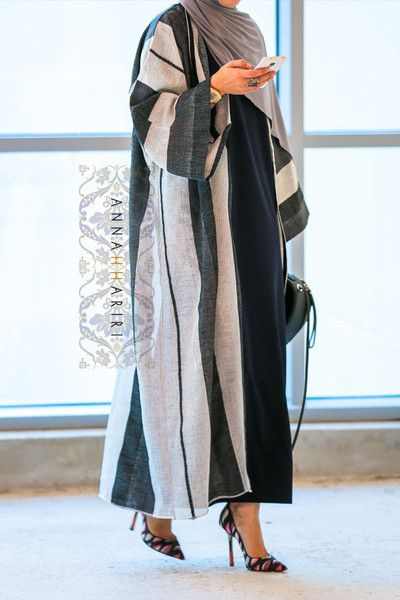 Bisht is back in stock www.annahariri.com Bisht (light Abaya of Dubai Style) + Jersey Hijab and maxi pencil dress are available on the website.