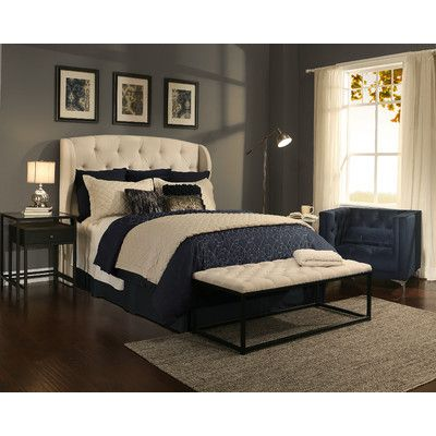Republic Design House Archer Upholstered Headboard And Bedroom Bench