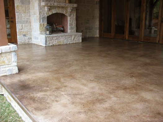 Take a look at this patio concrete stain  Solcretecom  Scoobs space  Acid stained concrete
