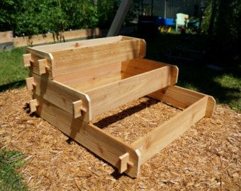 Cedar Raised Garden Bed 3 Tier, Raised Planters Raised Beds Wooden Planter Boxes Outdoor Planters Large Planter Herb Garden Vegetable Garden