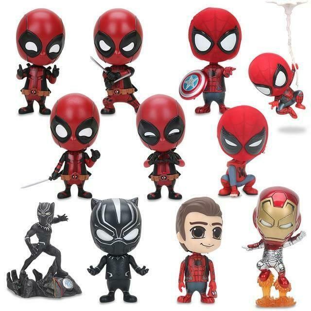 Deadpool Shaking Head Figure Toys For Car Decoration Bobble Head Doll Collection