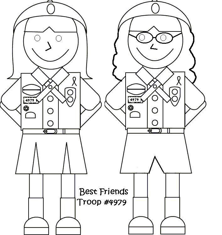This is a picture of Intrepid Girl Scout Coloring Pages