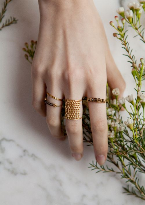 Cool honeycomb ring
