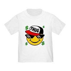 Smiley Thug Life Toddler T-Shirt. Thug life t-shirt. Once a upon a thug life. Smiley thug life emoticon. Funny thug life t-shirt.