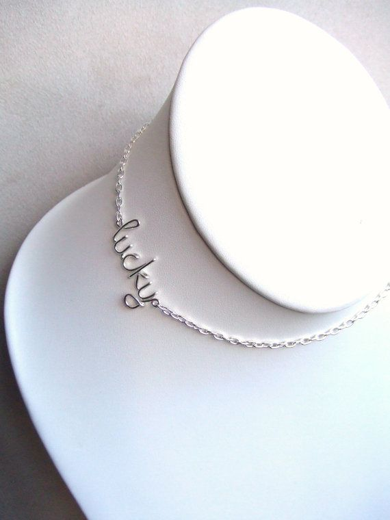 Personalized Name Necklace Silver Necklace Up to 9 Letters Wire Word Necklace Word Jewelry Teen Gift Wire Wrapped Jewelry Gifts Under 20