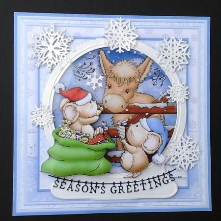 SPECIAL CHRISTMAS FRIENDSHIP 8x8 Decoupage Mini Kit on Craftsuprint designed by Janet Briggs - made by Sue Soules