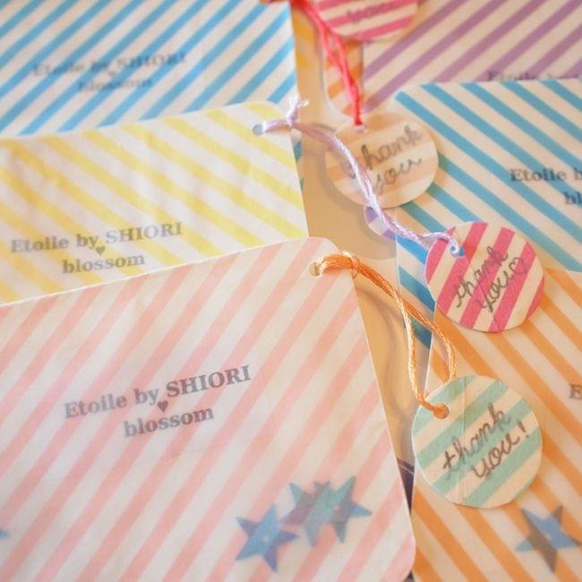 E♥bラッピング ショップカード&サンキュータグ|blossom ビーズ刺繍/ほぼ日/ハンドメイドアクセ/