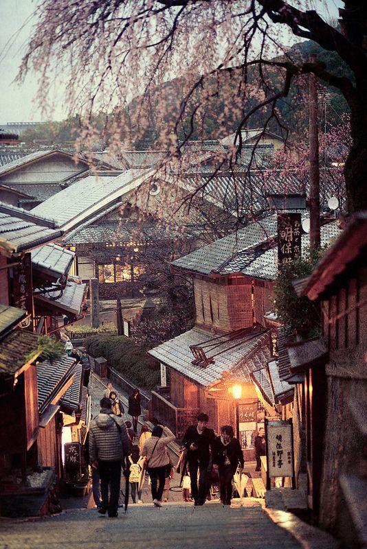 Ninen-zaka and San'nen-zaka approaches 傍晚的京都三年坂(產寧坂) DSC_5405