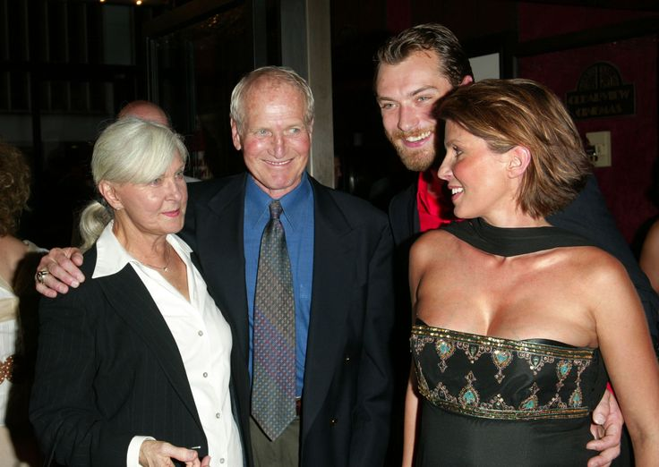 Joanne and Paul with Jude Law and Sadie Frost.