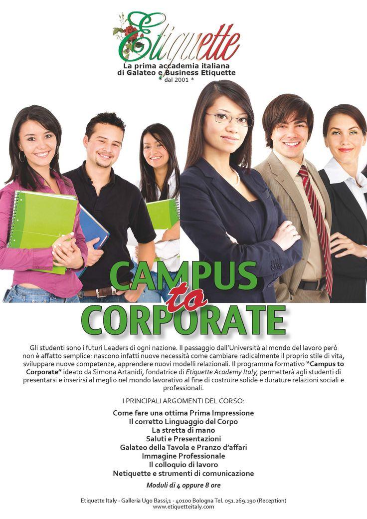 Campus to Corporate: il programma di Etiquette Italy per i giovani studenti che desiderano presentarsi al meglio nel mondo del lavoro  http://www.artanidis.com/#!campus-to-corporate/cpo3