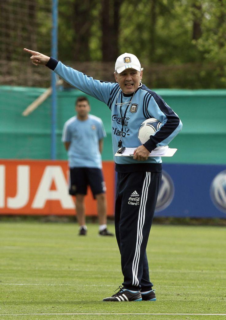 Alejandro Sabella, director técnico de la Selección de fútbol de #Argentina. Foto: EFE.