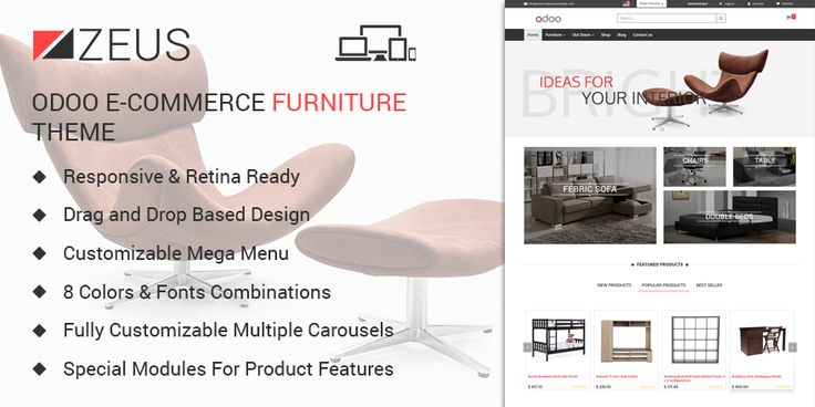 Zeus is the god of #eCommerce #furniture #theme, filled with tons of features for best possible ROI and online exposure.