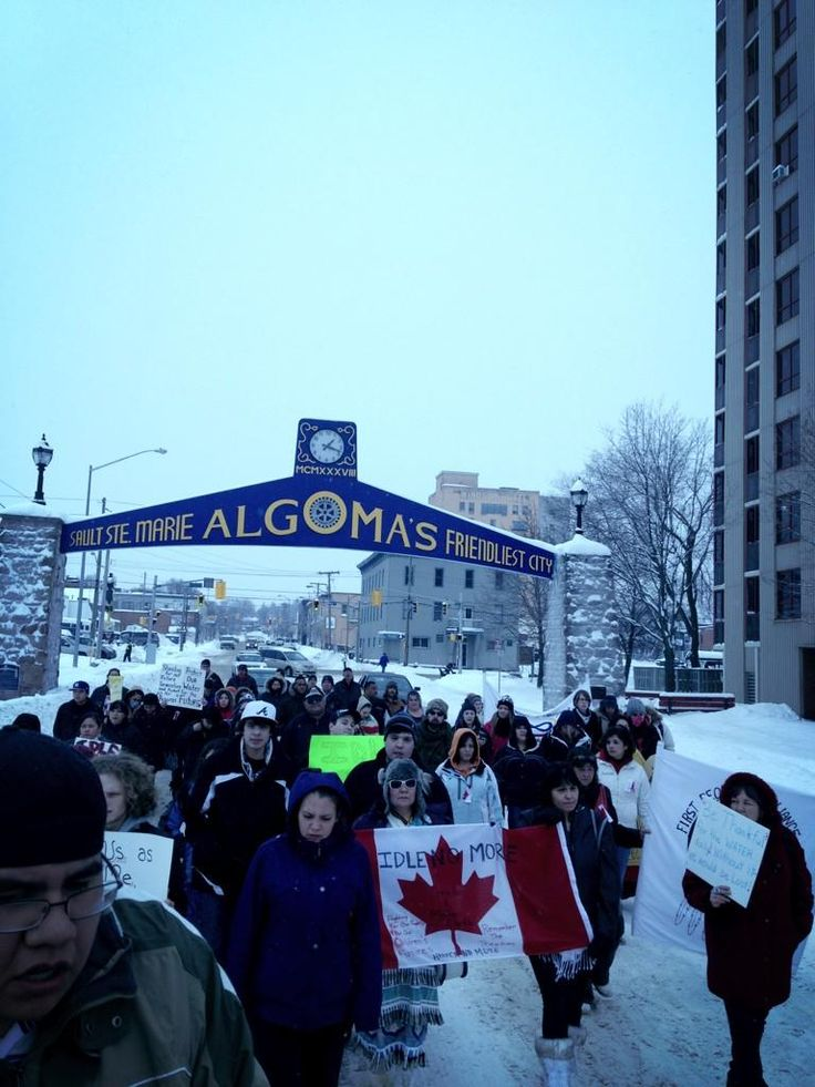 Twitter / chief_ojicree: #idleNoMore happening in Sault ...