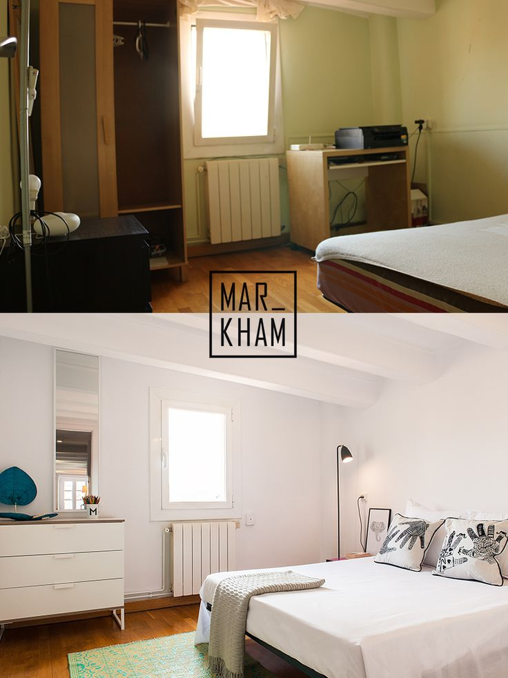 Before and After. Home Staging. Rented in just 1 week. Markham Stagers, Barcelona. www.markhamstagers.com