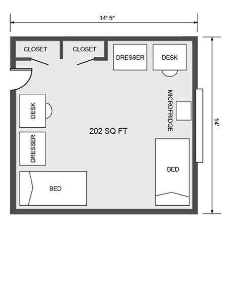 University Housing Virtual Tour Mcbryde Dorm For