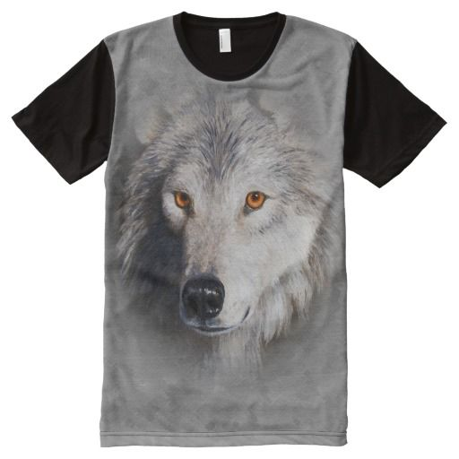 Timber Wolf Face Gray
