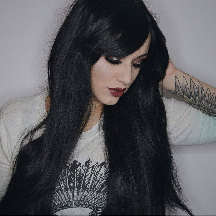 @imogenhearts is sultry in The Dark  This is our longest silkiest black style in stock! . . .  #lushwigs #lushhair #lushwigsthedark #lushwig #blackwig #longhair
