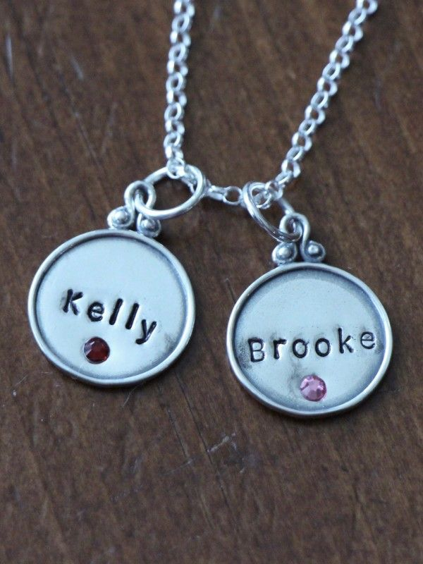 Birthstone Name Charm Necklace | kandsimpressions  Order by Monday, May 8 for FREE delivery before Mother's Day    Order by Thursday, May 11 @ noon select overnight delivery for Mother's Day