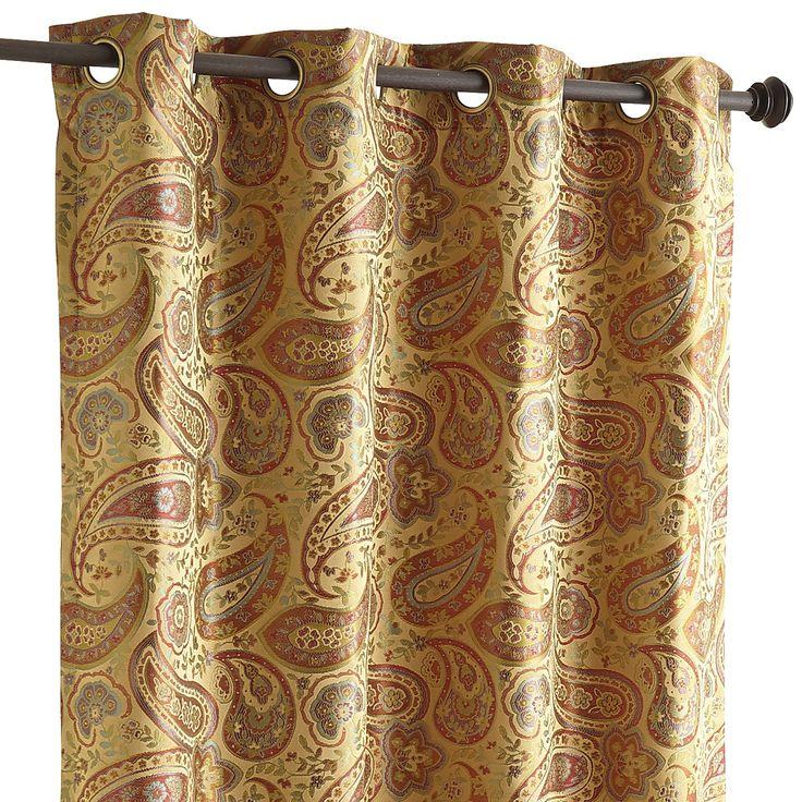 Gold 96 Quot Shao Paisley Curtain Window Treatments