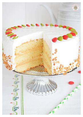 Tarta de merengue, con crema pastelera y Lacasitos (Sin gluten)