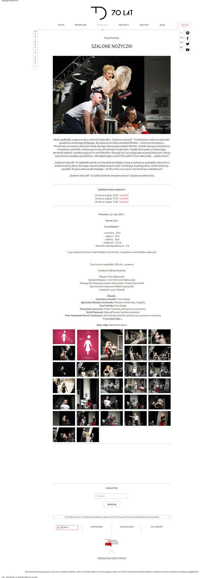 Szalone nożyczki | Teatr Dramatyczny im. Aleksandra Węgierki w Białymstoku Instytucja Artystyczna Województwa Podlaskiego