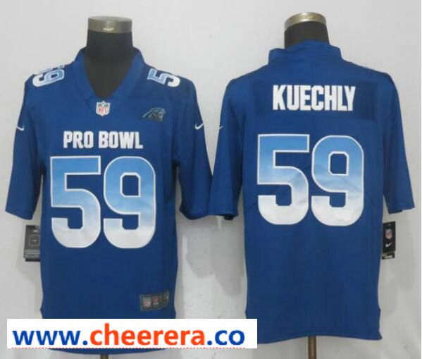 timeless design 5a220 02628 Nike NFC Panthers 59 Luke Kuechly Royal 2019 Pro Bowl ...