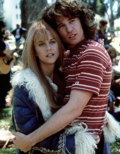 Val Kilmer and Meg Ryan in The Doors. One of my favorite scenes is when Jim(Val) climbed in her bedroom window...I thought they made a good couple.