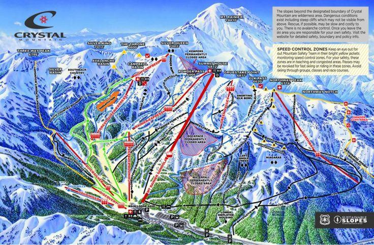 Crystal Mountain ski resort and Mount Rainier National Park